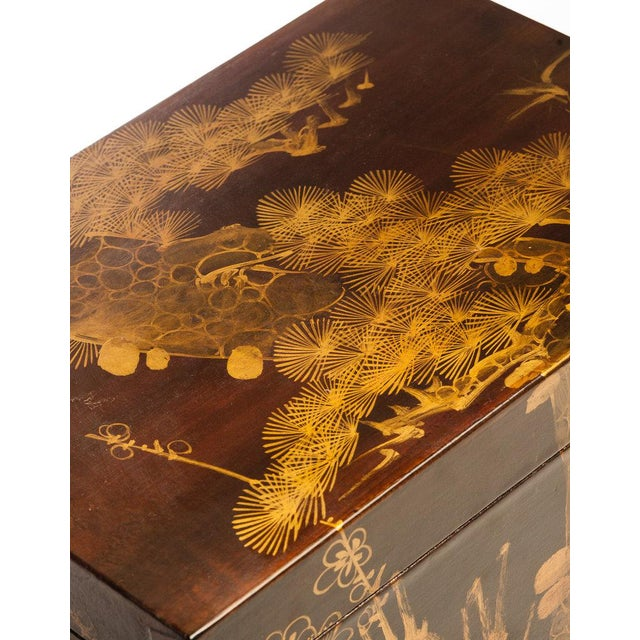 """Lawrence & Scott Mahogany Meridian Leather Box ( 16.5"""") For Sale In Seattle - Image 6 of 7"""