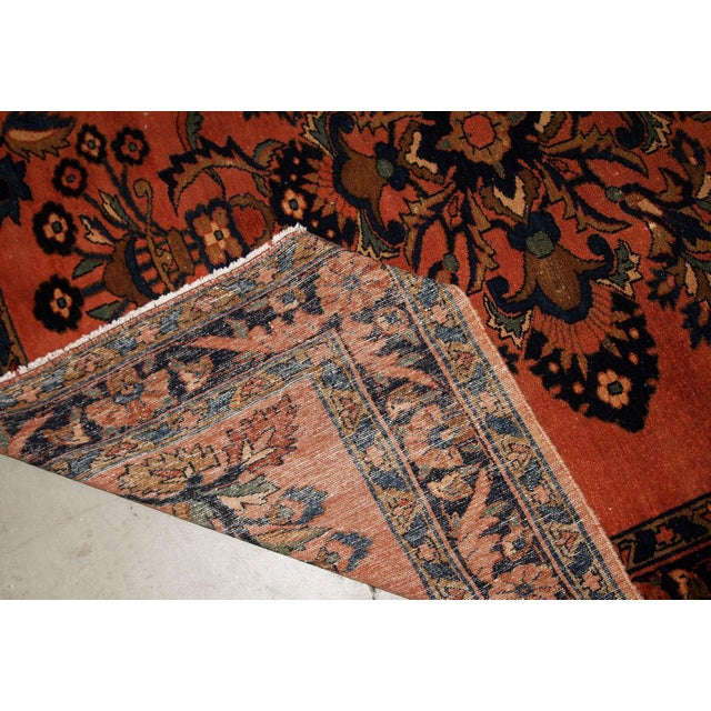 1920s, Handmade Antique Persian Lilihan Rug 5.3' X 7.2' For Sale - Image 9 of 10