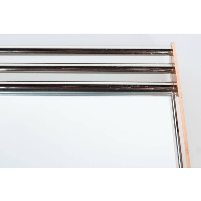 Art Deco Art Deco Machine Age Skyscraper Style Mirrored Tray with Copper and Chrome For Sale - Image 3 of 11