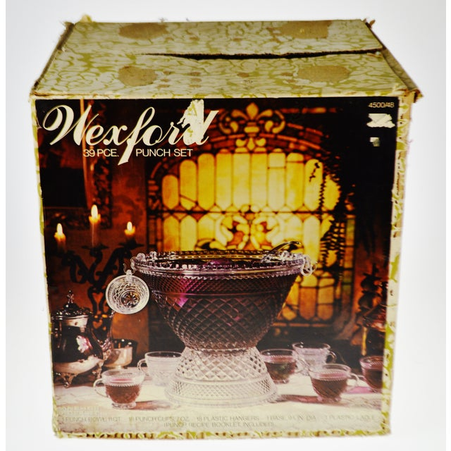 Vintage Anchor Hocking Wexford Punch Set in Original Box - 39 Pieces For Sale - Image 12 of 13