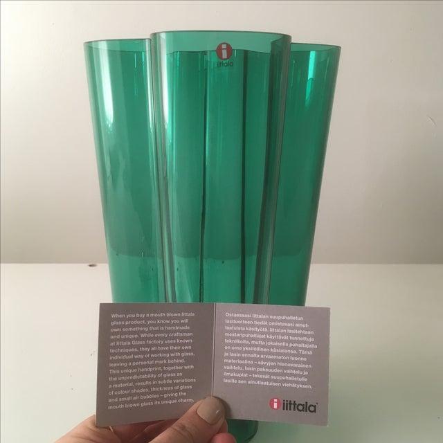 Iittala Emerald Green Glass Aalto Vase - Image 6 of 6