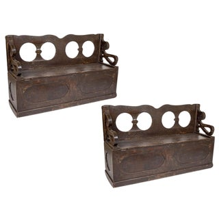 Spanish Colonial Benches - A Pair For Sale