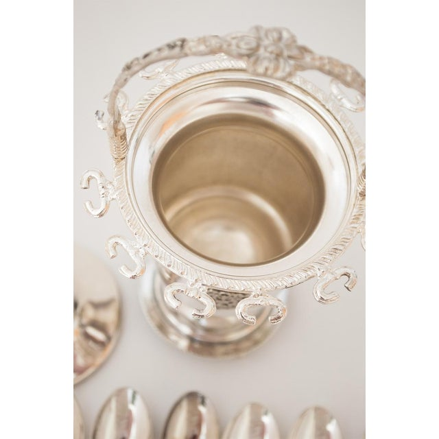 Victorian-Style Sugar Bowl and Spoon Holder -13 Piece Set