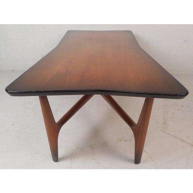 "Unique Mid-Century Modern ""X"" Base Coffee Table   Chairish"