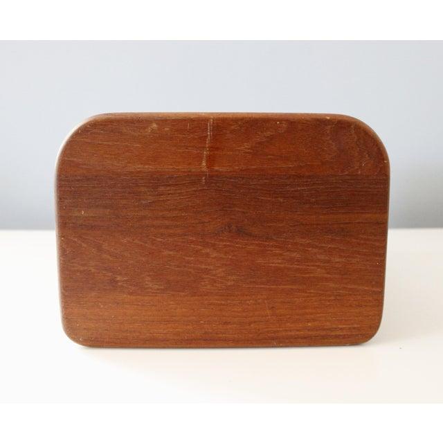 Late 20th Century Kalmar Teak Wood Tambour Storage Box CD Organizer Danish Modern For Sale - Image 5 of 8