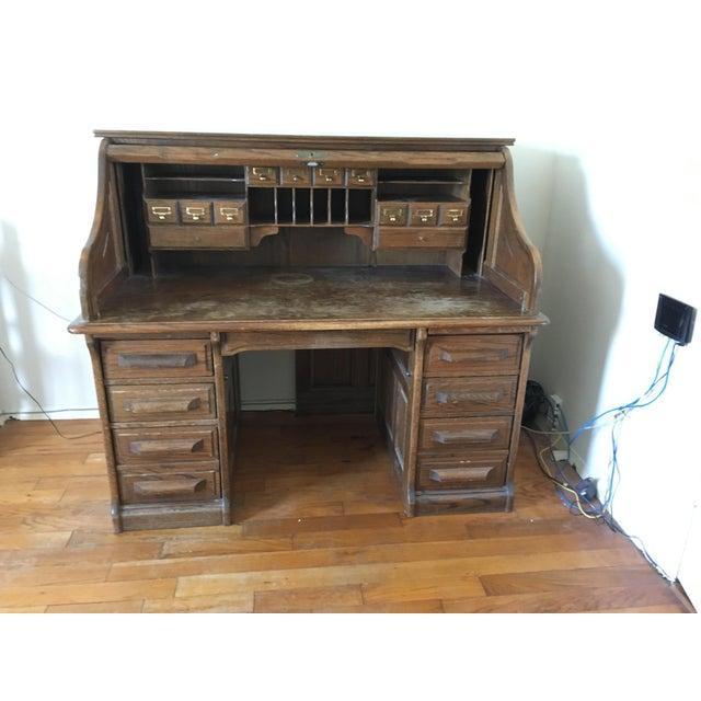 Vintage Jefferson Rolltop Desk For Sale - Image 9 of 10