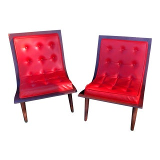 Mid-Century Paul & John Carter Bentwood Plywood Lounge Chairs - a Pair For Sale