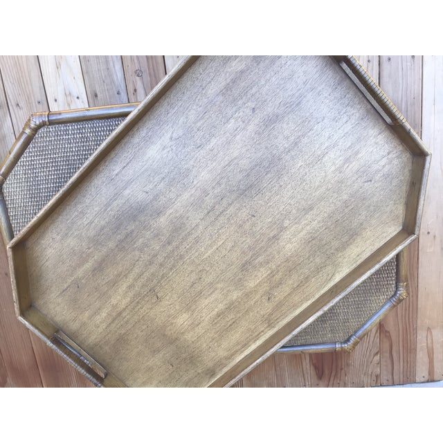 McGuire Bamboo & Fruitwood Coffee Table For Sale - Image 6 of 9