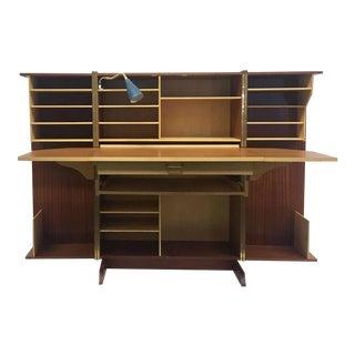 Maple and Teak 'Magic Box' Foldable Desk, 1960s