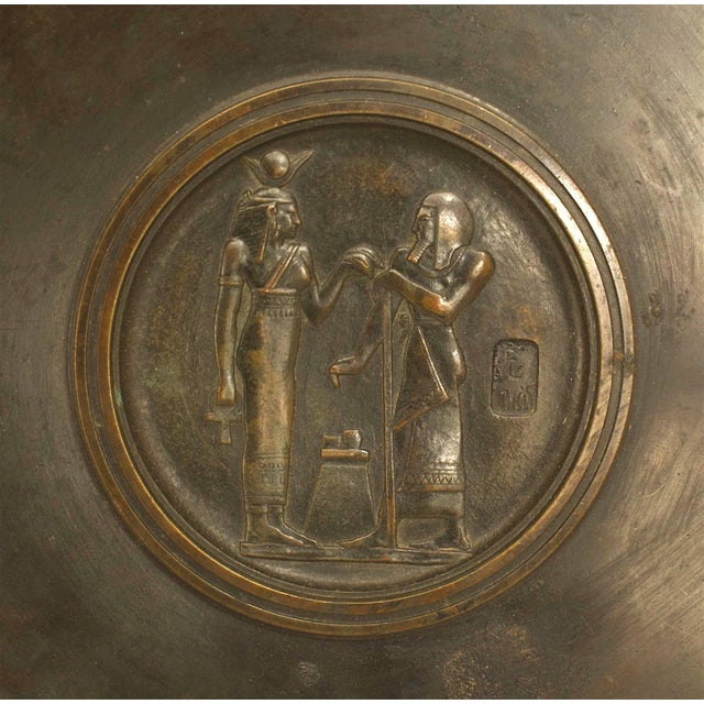 """Neoclassical An Italian Neo-Classic """"Grand Tour"""" Bronze Tazza Resting on Sphinx Figures For Sale - Image 3 of 5"""