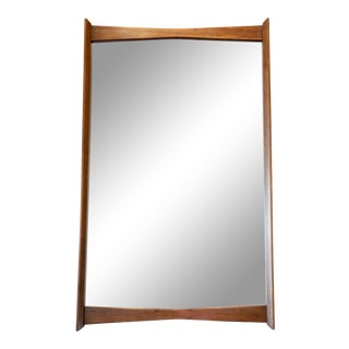Vintage Walnut Wall Mirror For Sale