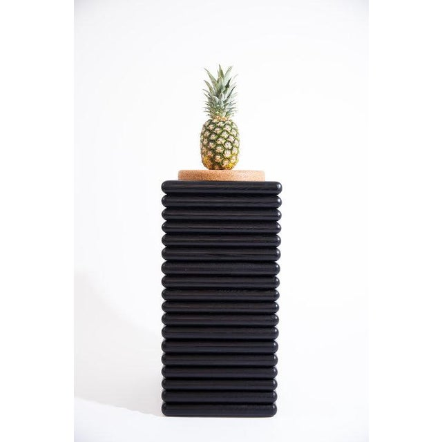Trey Jones Studio Ebonized Ridge Stool With Cork For Sale - Image 4 of 6