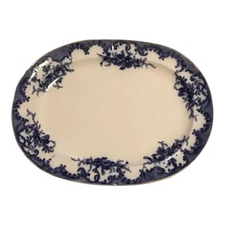 Porcelain Ceramic Plate Furnivals Large Serving Platter For Sale