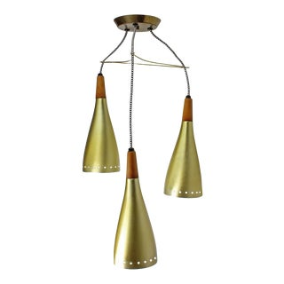 Three Pendant MCM Light For Sale