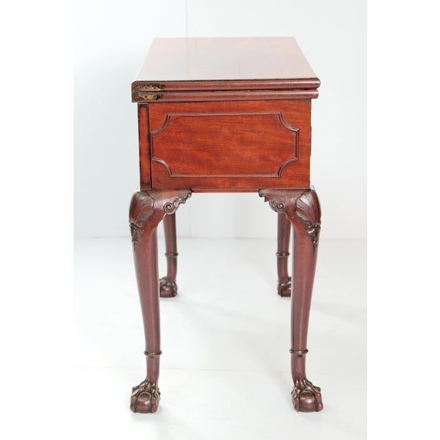 A George II Mahogany Harlequin Table For Sale - Image 4 of 13