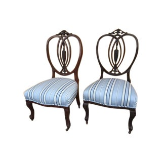 Mahogany English Child Chair - Pair For Sale