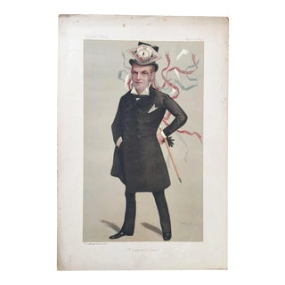 Original 1890 Vanity Fair France Royalty Print, h.r.h. The Duke of Orleans For Sale