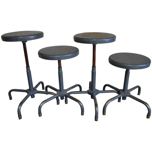 Industrial Adjusting Stools - S/4 - 32 Available - Image 1 of 3