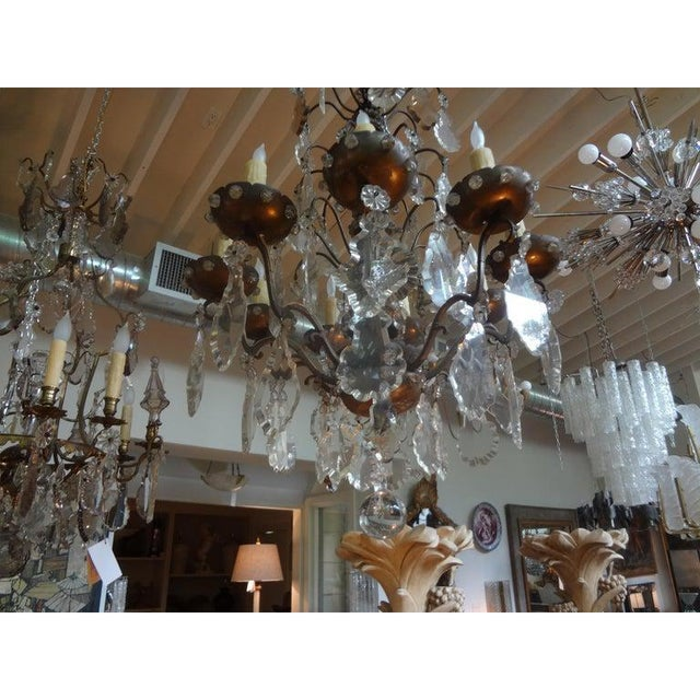 1920s Antique French Maison Baguès Attributed Beaded and Crystal Chandelier For Sale - Image 5 of 13