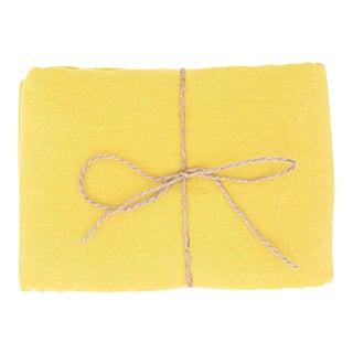 Citron Linen Tablecloth 260 x 350 For Sale