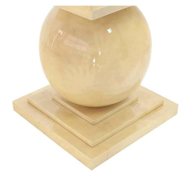 Mid 20th Century Vintage Mid Century Lacquered Parchment Pedestal Table Base For Sale - Image 5 of 8