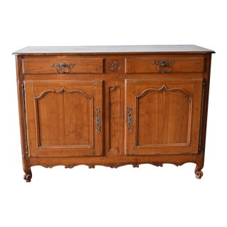 Antique Cherry Wood Buffet For Sale