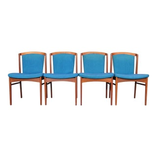 Erik Buck Mid Century Danish Modern Teak Dining Chairs - Set of 4 For Sale