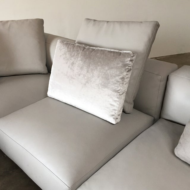 B&B Italia 'Frank' Leather Sectional For Sale - Image 7 of 8