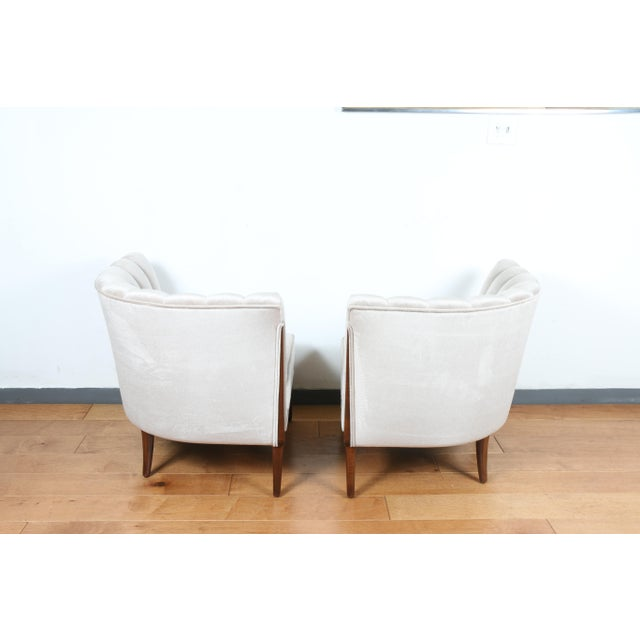 1970s Mohair Hollywood Regency Pair of Chairs For Sale - Image 5 of 13