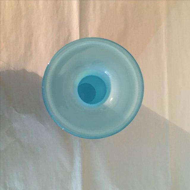 LSA Glass Blue Cased Cylinder Vase - Image 4 of 5