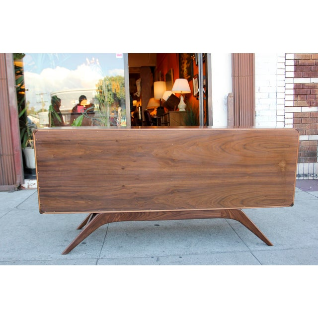 Mid-Century Walnut Credenza For Sale - Image 11 of 12