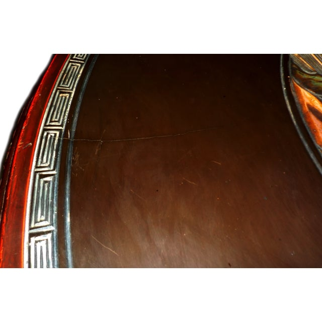 Ornate Oriental Wood Carved Round Coffee Occasional Table For Sale - Image 5 of 5