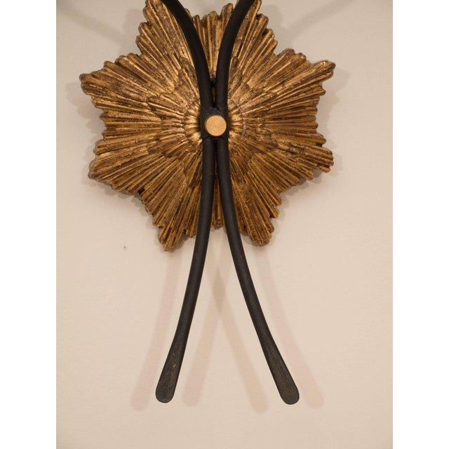 2010s Pair of Gilt Iron Sconces For Sale - Image 5 of 8