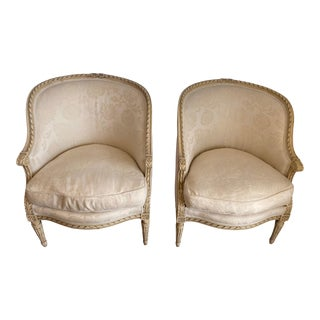 Traditional French Upholstered Chairs - a Pair For Sale