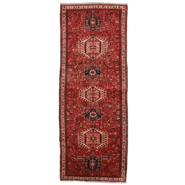 """Antique Persian Heriz Runner - 3'6"""" X 9'1"""" For Sale"""