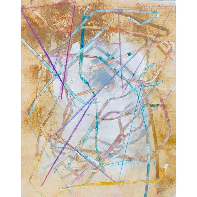 """Nest"" Original Mono Print Painting by Martha Holden - Image 3 of 5"