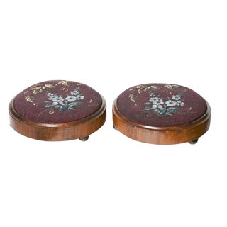 19th Century English Footstools - A Pair For Sale