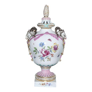 Monumental KPM Covered Urn, Late 18th Century, Germany For Sale