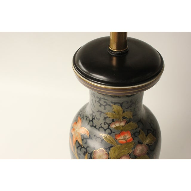 Frederick Cooper Floral Vase Table Lamp For Sale - Image 5 of 7