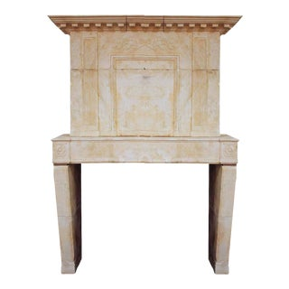 Louis XVI Limestone Mantel, circa 1730 For Sale