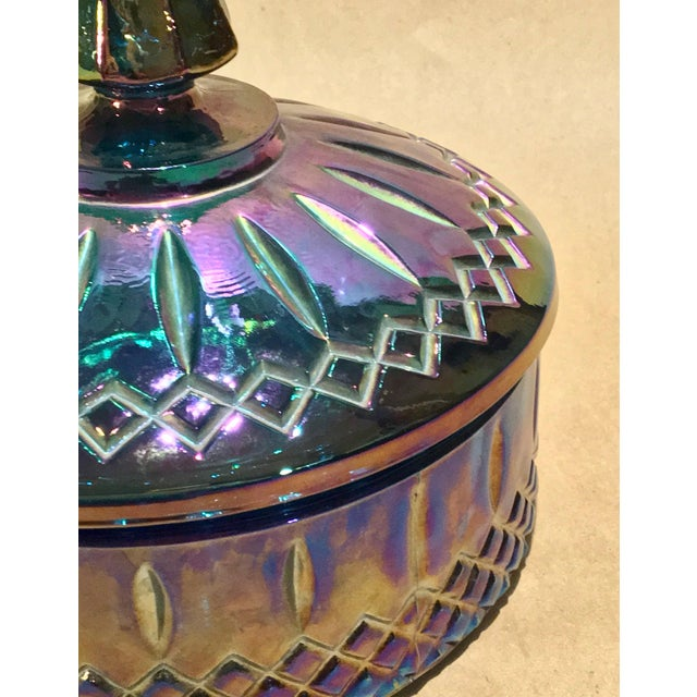 Indiana Glass Co. Mid-Century Carnival Glass Candy Dish - Image 3 of 8