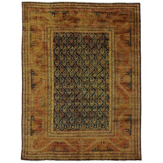 Contemporary Caucasian Kazak Area Rug - 8′5″ × 11′2″ For Sale