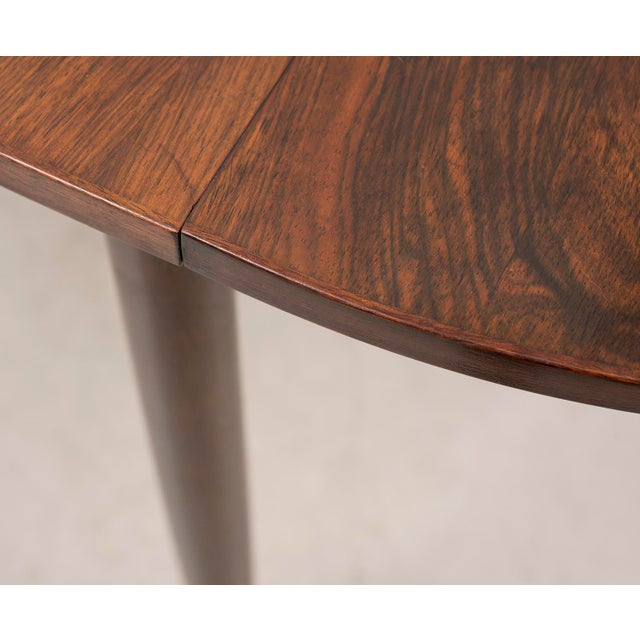 Metal Niels Moller Extending Dining Table in Rosewood, Denmark 1950s For Sale - Image 7 of 12