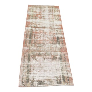 "1920's Antique Turkish Hand-Knotted Hallway Runner-3' X 8'7"" For Sale"