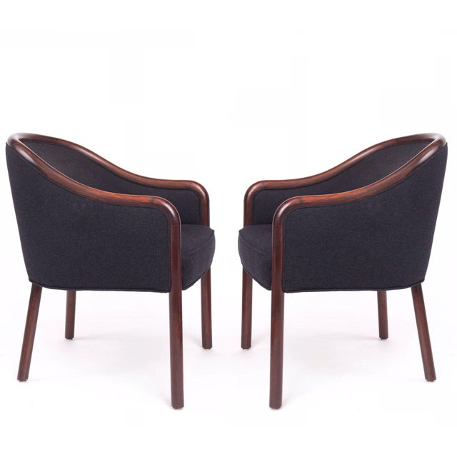 1960s 1960s Mid-Century Modern Ward Bennett Bentwood Club Chairs - a Pair For Sale - Image 5 of 5