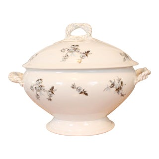 Late 19th Century Haviland & Co Limoges Porcelain Tureen and Lid For Sale