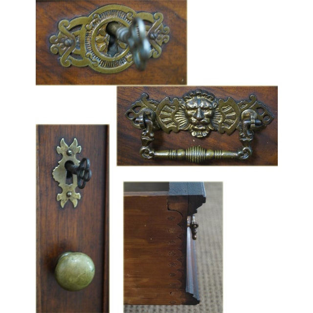 Antique Victorian Walnut Bookcase For Sale - Image 10 of 10