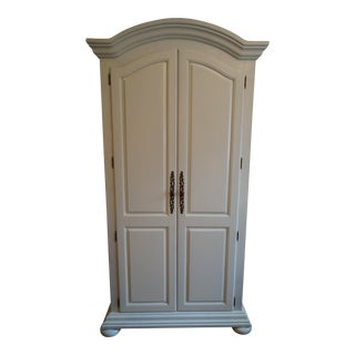Painted White Knotty Pine Wardrobe