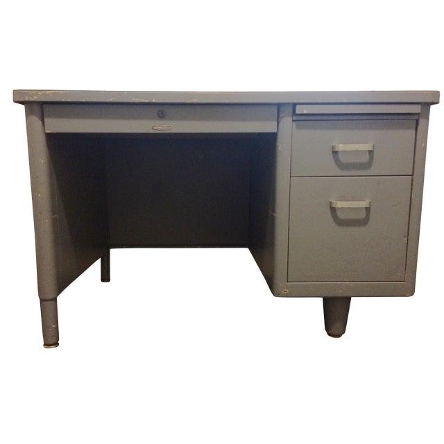Vintage Blue McDowell & Craig Tanker Desk - Image 1 of 6