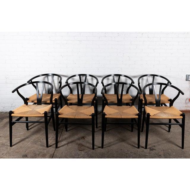Danish Modern Danish Wishbone Back Dining Chairs- Set of 8 For Sale - Image 3 of 3